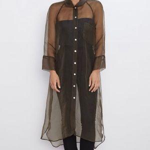 NWT Zara Organza Shirt